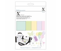 Xcut Xtra's A5 Adhesive Vellum Sheets Coloured (15pcs) (XCU 174424)