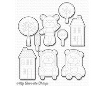 My Favorite Things Die-Namics Town Bear (MFT-1128)