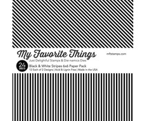 My Favorite Things Black & White Stripes 6x6 Inch Paper Pack (EP-54)