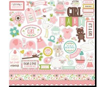 Echo Park Sweet Baby Girl 12x12 Inch Element Sticker (SBG142014)