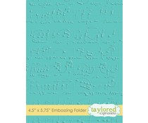 Taylored Expressions Sheet Music Embossing Folder (TEEF06)