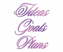 Couture Creations Everyday Sentiments Hotfoil Stamp Ideas, Goals, Plans (CO725836)