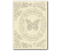 Stamperia Wooden Shapes A5 Frame, Corners & Butterfly (KLSP030)