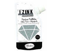 Aladine Izink Diamond Glitter Paint Silver 80ml. (80836)
