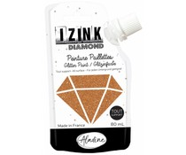 Aladine Izink Diamond Glitter Paint Copper 80ml. (80837)