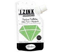 Aladine Izink Diamond Glitter Paint Light Green 80ml. (80843)