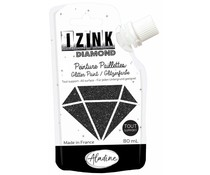 Aladine Izink Diamond Glitter Paint Black 80ml. (80846)