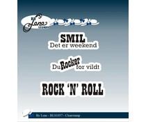 By Lene Clearstamp Rock'n' Roll (Danish Texts) (BLS1057)