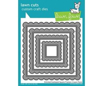 Lawn Fawn Stitched Scalloped Square Frames Dies (LF1720)