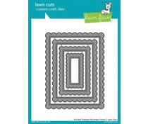 Lawn Fawn Stitched Scalloped Rectangle Frames Dies (LF1719)