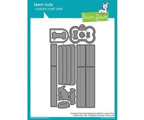 Lawn Fawn Scalloped Treat Box Dog House Add-On Dies (LF1704)