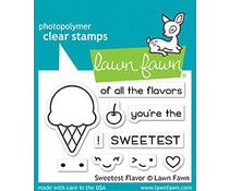 Lawn Fawn Sweetest Flavor Clear Stamps (LF1698)