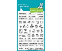 Lawn Fawn Plan On It: Appointments Clear Stamps (LF1697)