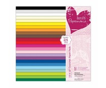 Papermania Coloured Paper Pack 12x12 Inch (48pk) (PMA 160503)
