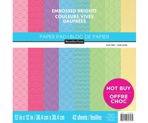 Craft Smith Embossed Brights 12x12 Inch Paper Pad (MPP0350)