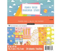 Craft Smith Funky Fresh 6x6 Inch Paper Pad (MPP0360)