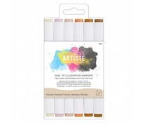 Docrafts Dual Tip Illustration Markers Portrait (6pk) (DOA 851401)