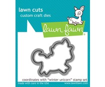 Lawn Fawn Winter Unicorn Die (LF1219)