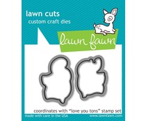 Lawn Fawn Love You Tons Dies (LF600)