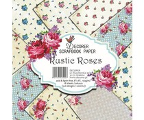 Decorer Rustic Roses 8x8 Inch Paper Pack (B2-400)
