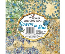 Decorer Flowers in Blue 6x6 Inch Paper Pack (C10-213)