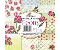 Decorer Peony 6x6 Inch Paper Pack (C21-223)