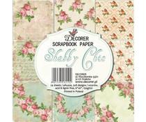 Decorer Shabby Chic 6x6 Inch Paper Pack (C6-210)
