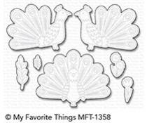 My Favorite Things Playful Peacock Die-Namics (MFT-1358)