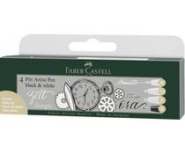 Faber Castell Tekenstift Pitt Artist Set Black & White (FC-167151)