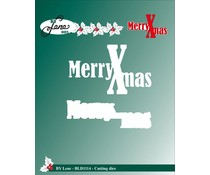By Lene Cutting & Embossing Dies Merry Xmas (BLD1114)