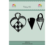 Dixi Craft Woven Heart & Cornet Metal Dies (MDL018)