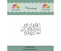 Dixi Craft Danish Text 3 Clear Stamp (STAMPL020)