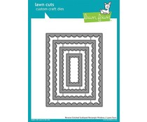 Lawn Fawn Reverse Stitched Scalloped Rectangle Windows Dies (LF1800)