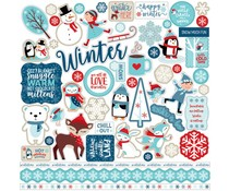 Echo Park Celebrate Winter 12x12 Inch Element Sticker (CW162014)