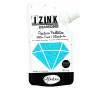 Aladine Izink Diamond Glitter Paint Carribean Blue 80ml. (80821)