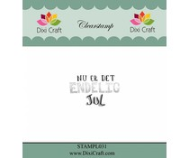 Dixi Craft Danish Text 1 Clear Stamp (STAMPL031)