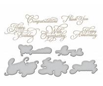 Spellbinders Elegant Occasion Sentiments Hot Foil Plate (GLP-033)