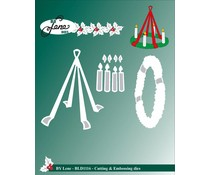 By Lene Cutting & Embossing Dies Advent Wreath (BLD1116)