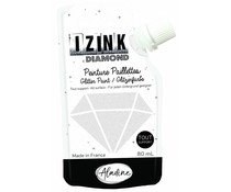 Aladine Izink Diamond Glitter Paint White 80ml. (80829)