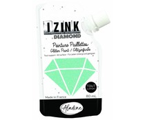 Aladine Izink Diamond Glitter Paint Pastel Green 80ml. (80831)