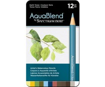 Spectrum Noir Spectrum Aquablend Watercolour Pencils Earth Tones (12pc) (SPECAB-EARTH12)