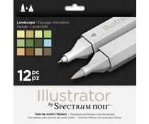 Spectrum Noir Spectrum Noir Illustrator Landscape (12pc) (SPECN-IL12-LAN)