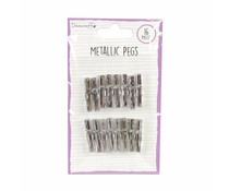 Dovecraft Metallic Pegs Silver (DCBS172)