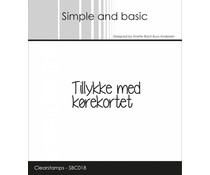 Simple and Basic Danish Texts 6 Clear Stamps (SBC018)