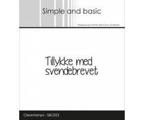 Simple and Basic Danish Texts 11 Clear Stamps (SBC023)