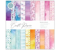 Craft Consortium Essential Craft Papers 12x12 Inch Paper Pad Watercolours (CCEPAD003)