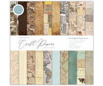 Craft Consortium Essential Craft Papers 12x12 Inch Paper Pad Vintage Emporium (CCEPAD004)