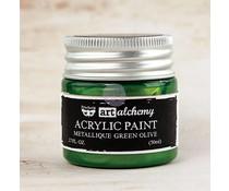 Prima Marketing Art Alchemy Acrylic Paint Metallique Green Olive (963163)