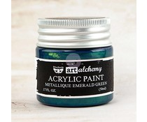 Prima Marketing Art Alchemy Acrylic Paint Metallique Emerald Green (963170)