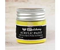 Prima Marketing Art Alchemy Acrylic Paint Metallique Pure Sunshine (963187)